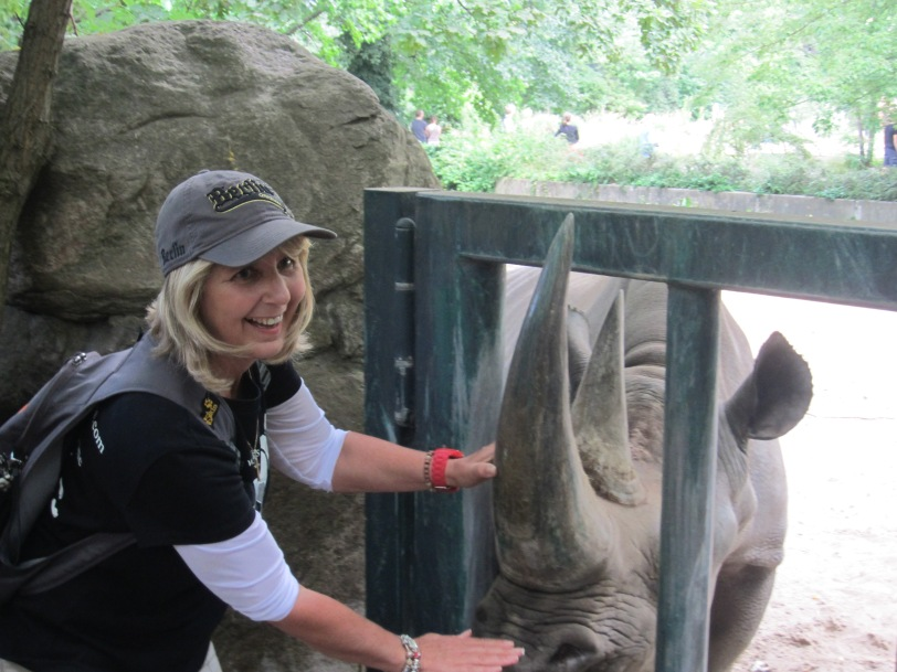 Gaby with friend at Berlin Zoo